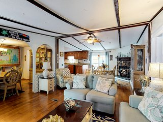 NEW LISTING! Dog-friendly oasis with pier, multiple living spaces & water views!