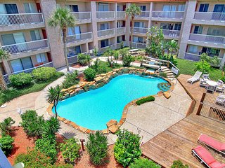 Canal-front condo w/ water views & shared pool! Near beach, snowbirds welcome!