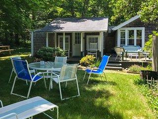Dog-friendly home on Martha's Vineyard w/ a grassy yard, furnished porch, & deck