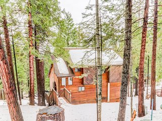Cozy, secluded cabin w/ community tennis & lake beach - plus gas grill & deck!