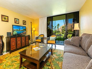 Ground Floor Ease w/Lanai, Kitchen, Laundry, WiFi, Flat Screen+AC–Kamaole Sands