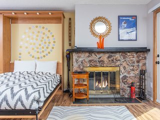 NEW LISTING! Dog-friendly studio w/ fireplace & mountain views - walk to lifts!