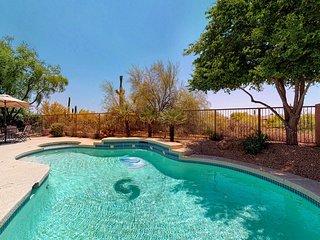 Beautiful, modern Scottsdale home w/ a private, heated pool, pool spa, & views