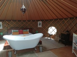 Luna Stella Yurt with Bath.