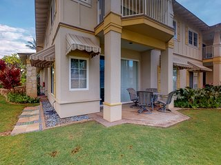 Spacious ground floor unit with shared pool in gated community