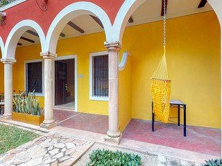 Gorgeous room for couples inside a colonial villa w/ shared pool & garden