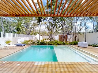 NEW LISTING! Secluded two-bedroom w/ jetted tub & shared pool, grill, yard