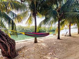 Lakefront house with enclosed yard, hammock & outstanding location
