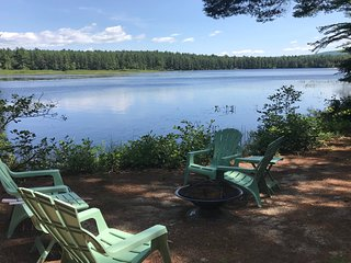 Dog-friendly, waterfront home w/private grill and incredible Moores Pond views!