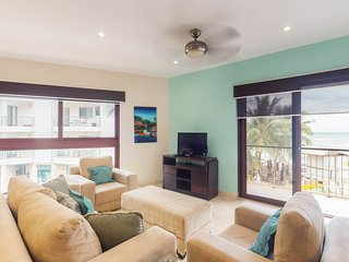 Upscale condo in beachfront resort with pools, gym, great location