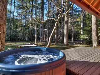 Welcoming, dog-friendly cabin secluded in the forest w/ private hot tub
