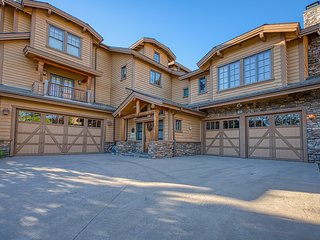 Elegant mountain home w/ a private hot tub, game room, enclosed yard, & views!