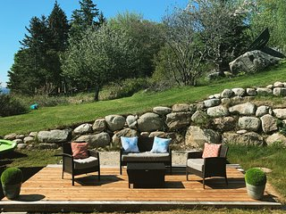 Relax in the outdoor lounge area.