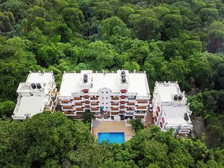 Elegant 2 BHK with a pool, 900m from Chapora Beach