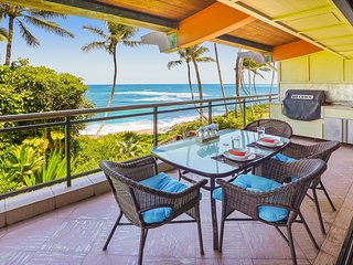 Luxury 2-story Oceanfront condo w/large lanai, views, &  pool. Lots of updates!