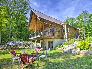 NEW! Quiet Adirondack Cabin on Private Lake!