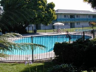 CLOSE TO ATTRACTIONS! THREE COMFY STUDIO SUITES FOR 12, POOL, BREAKFAST!