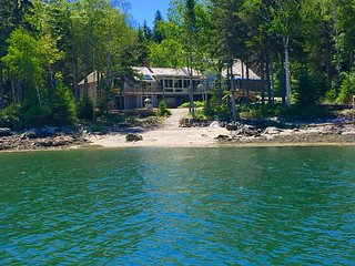 Beautiful Private Oceanfront Home w/ Rare Beach and Deep Water Mooring