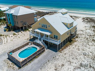 Dog-friendly, gulf front house w/ private pool, beautiful views, & free WiFi!