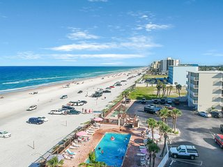 Two connected condos with shared pool, ocean views and just steps to the beach!