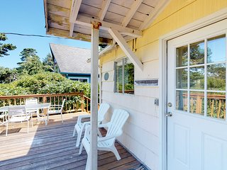 Cottage near the beach perfect for a couple with deck and private grill!