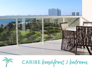*CARIBE Beachfront 2 BDR- Incredible Oceanview.*