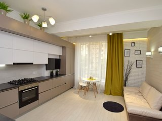 Modern apartment with 1 bedroom and 1 livingroom