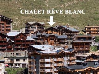 Chalet Rêve Blanc / Appartement Émile 8 personnes, 100m2, Tignes le lac