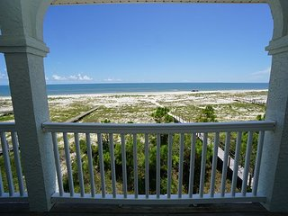 New Listing!  Gulf front, elevator, pet friendly and beach gear included!