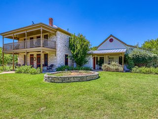 Historic 3-home Hill Country property w/ porches & balconies - 2 dogs OK!
