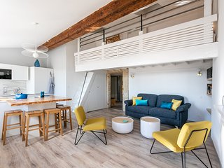 Appartement atypique rue de l'ancien Courrier avec vue et climatisation
