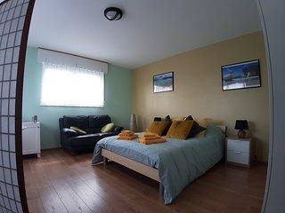 Ruime kamer met privé badkamer in rustige wijk op 20 km van Brussel