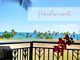 Ocean Front Beach Villas at Ko Olina ~ Golf course & Ocean views O421