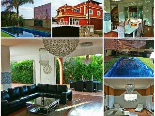 Casa Viera, Mega Villa 430m2, heated pool,WiFi, 5 Bedrooms, Sea/Mountain views