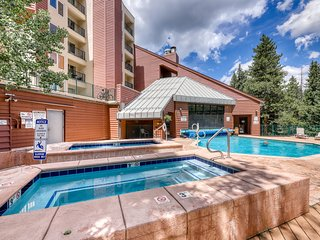 Ski-in/ski-out, dog-friendly condo w/ a furnished balcony, shared pool, hot tub