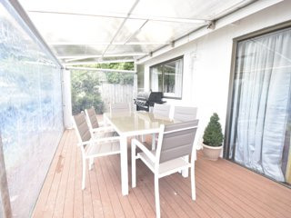 Entire Bungalow, private Garden and covered sitting area.