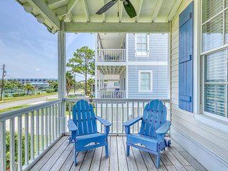 Charming, two-level beach house w/private balcony with views