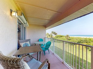 Waterfront condo w/ a full kitchen, private balcony, shared pool, & beach access