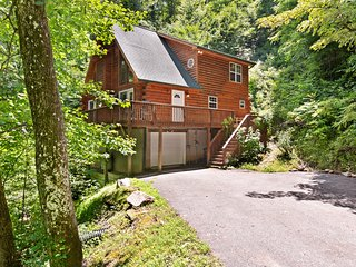 NEW LISTING! Luxurious cabin w/private hot tub and great views - dogs allowed!