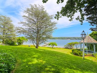 Serene waterfront oasis w/ dock, gazebo, amazing views & patio - 1 dog OK!