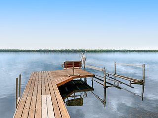 Exquisite, lakefront home w/ a furnished deck, firepit, & private dock - dogs ok