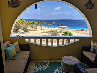 Incredible 5 star Bonaire Ocean front Sand Dollar F-10 newly renovated