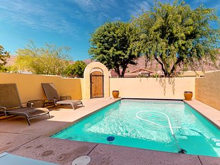 NEW LISTING! Santa Fe style home w/ private pool & mountain views - Dogs OK