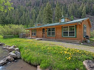 NEW LISTING! Creekside cottage w/ private hot tub, gas grill, & picnic table
