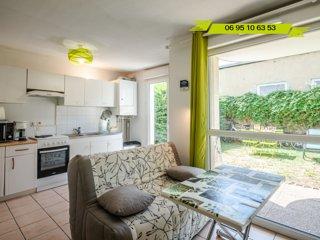 Instant-Leman I - Studio surequipe centre-ville + jardin + velos + parking