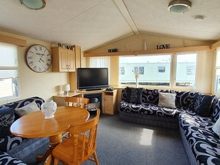 Colin and Michaela's caravan for hire on Happy Days Towyn