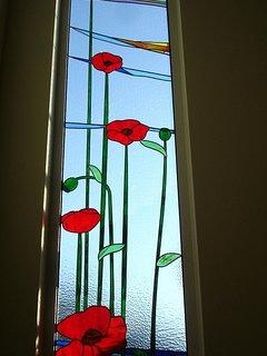 Poppy window in the evening. Goodnight!