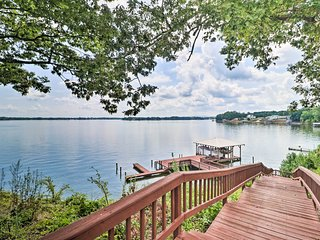 NEW! Waterfront Townhome with Dock on Weiss Lake!