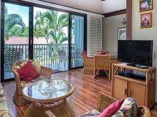 Easy Poipu Living! Enjoy WiFi, Flat Screen, Kitchen, Lanai+Ceiling Fan–Kiahuna
