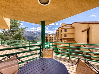 NEW LISTING! Ski-in/out condo w/shared pool & hot tub, mountain & resort views